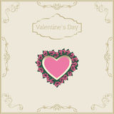 Greeting card for Valentine's Day in vintage Stock Photo