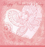 Greeting card with Valentines Day Stock Photos