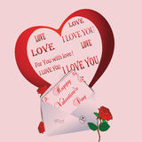 Greeting Card Valentines Day Stock Photography