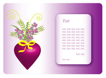 Greeting card for Valentines Day Royalty Free Stock Photography