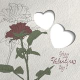Greeting card for Valentines Day Royalty Free Stock Image