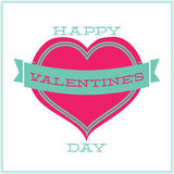 Greeting card for Valentines Day. Minimalism Royalty Free Stock Photography