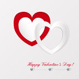 Greeting card on Valentines day Stock Image