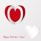 Greeting card on Valentines day Royalty Free Stock Image