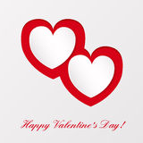 Greeting card on Valentines day Royalty Free Stock Photo