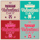 Greeting card for Valentines Day. Set and seamless Royalty Free Stock Image