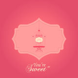 Greeting card Valentines day with Vintage bird Royalty Free Stock Photography