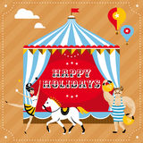 Greeting card vector illustration Stock Images