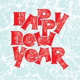 Greeting card. Vector illustration. Happy new year Stock Image