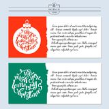 Greeting card, vector illustration. With the new year. Hand draw. N royalty free illustration