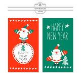 Greeting card, vector illustration. With the new year. Hand draw. N stock illustration