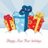 Greeting card. Vector illustration. Greeting card with a wish merry new year. Vector illustration Stock Image