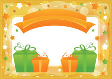 Greeting card, vector template background Royalty Free Stock Images