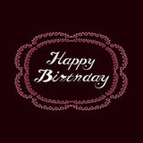 Greeting card in vintage style happy birthday. Royalty Free Stock Photo