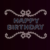 Greeting card in vintage style with happy birthday. Stock Image