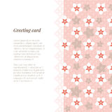 Greeting card, wedding invitation or menu template with flower Stock Photography
