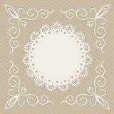 Greeting card or wedding invitation, mono line Royalty Free Stock Image