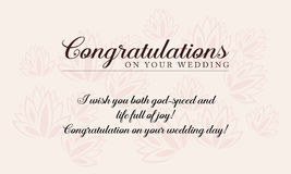 Greeting card wedding style collection Royalty Free Stock Photo
