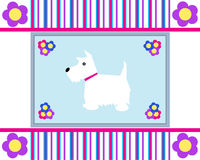 Greeting Card Westie Dog Stock Photography
