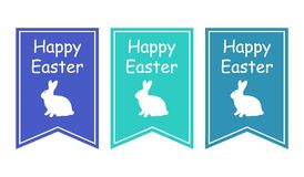 Greeting card with with white Easter rabbit. Funny bunny. Easter Bunny. Stock Image