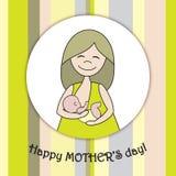 Greeting card whith nursing woman. Royalty Free Stock Photos