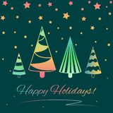Greeting card for Winter Holidays Stock Image