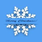 Greeting card - Winter Snowflake Stock Photos