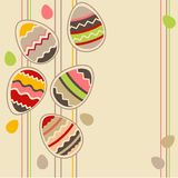 Greeting card wirh easter eggs Stock Photography