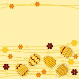 Greeting card wirh easter eggs Stock Images