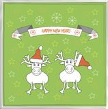 Greeting card with wishes Happy New Year Stock Image