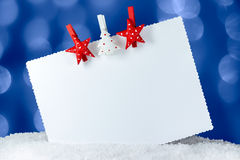 Greeting Card With Christmas Royalty Free Stock Photo