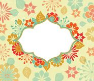 Greeting Card With Floral Motifs Stock Photo