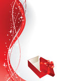 Greeting Card With Gift Box Stock Photos