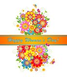 Greeting card for Women's day. Greeting card with bouquet for Women's day Royalty Free Stock Images