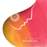 Greeting card for Women's Day celebration. Stock Photo