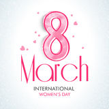Greeting card for Women's Day celebration. Stock Image