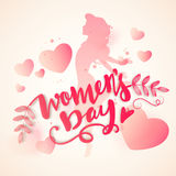Greeting card for women's Day celebration. Royalty Free Stock Images