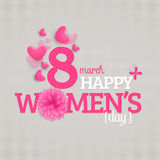 Greeting card for Women's Day celebration. Stock Photos