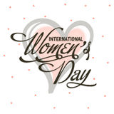 Greeting card for Women's Day celebration. Royalty Free Stock Image