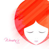 Greeting card for Women's Day celebration. Royalty Free Stock Photo