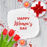 Greeting card for Women`s Day Royalty Free Stock Photography