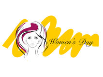 Greeting card for Womens Day. Royalty Free Stock Images