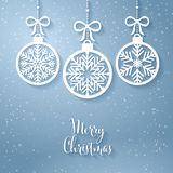 Greeting card with the words Merry Christmas
