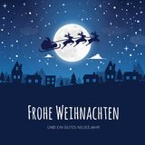 Greeting card with the words Merry Christmas in German