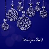 Greeting card with the words Merry Christmas in Polish