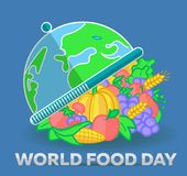Greeting card World Food Day Stock Photos