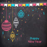 Greeting card with Xmas Balls for Happy New Year. Stock Photography