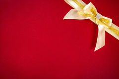 Greeting card with yellow bow Stock Photography