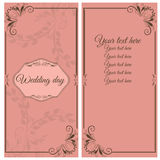 Greeting card for your wedding day Stock Photography