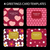 Greeting Cards. 4 Greeting Cards: Valentine's Day Stock Photos